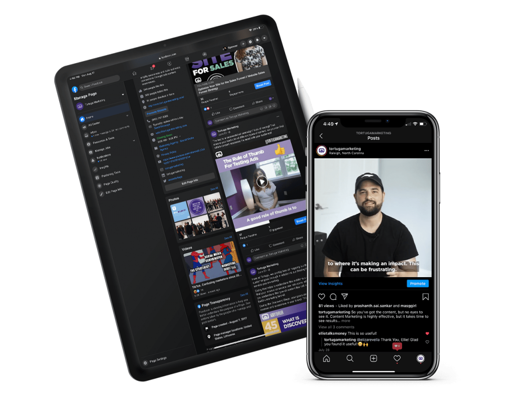 short form video content on smartphone and tablet