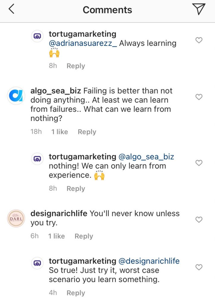 How to get followers on instagram by engaging in thoughtful conversation.